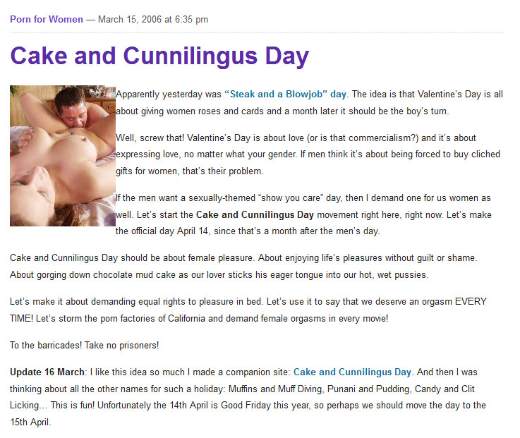 This is what men think of cunnilingus